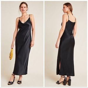 NWT Anthropologie Cowl Neck Maxi Cami Dress S